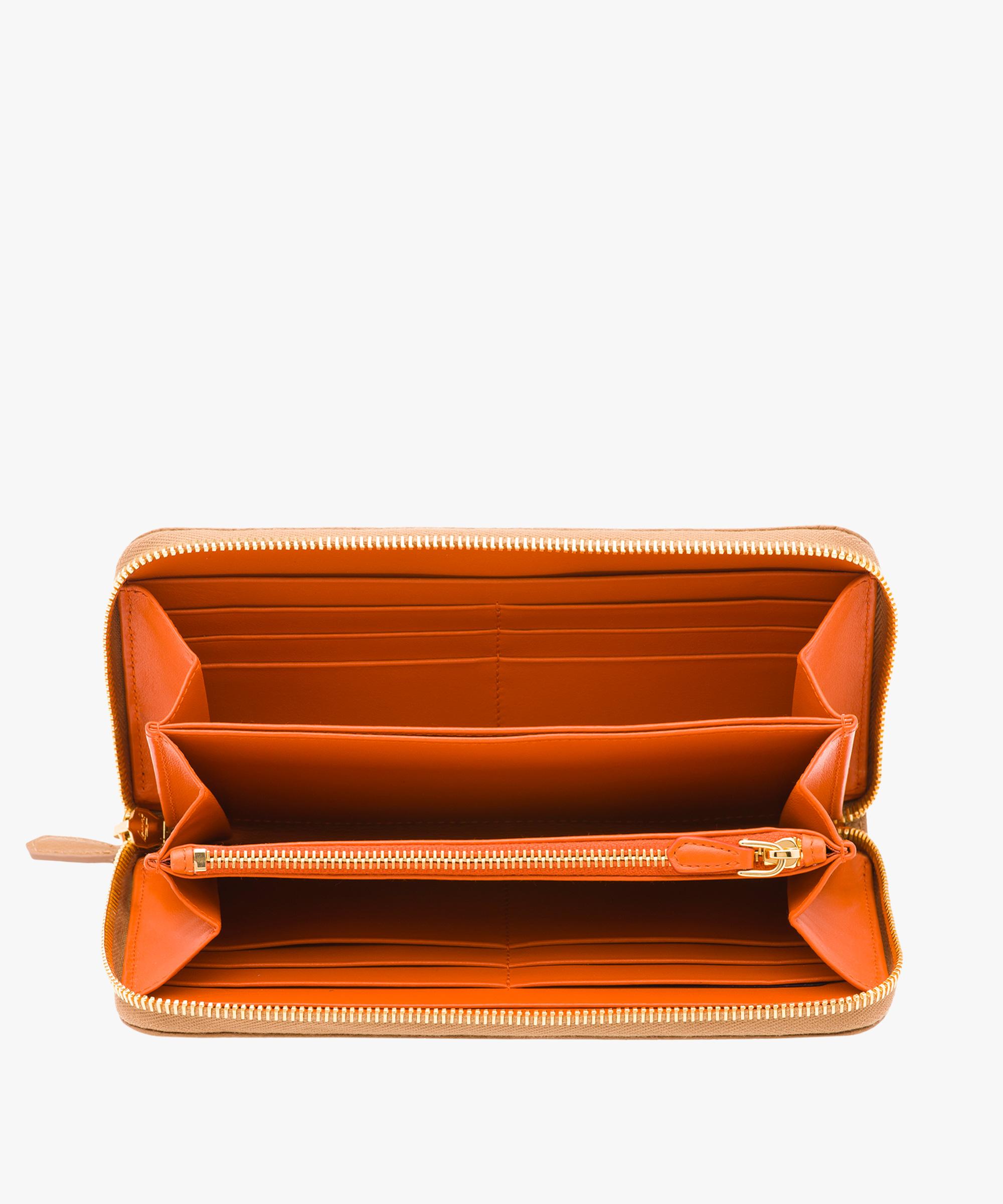 12da8eba3665e4 Leather Wallet Prada CARAMEL/PAPAYA ...