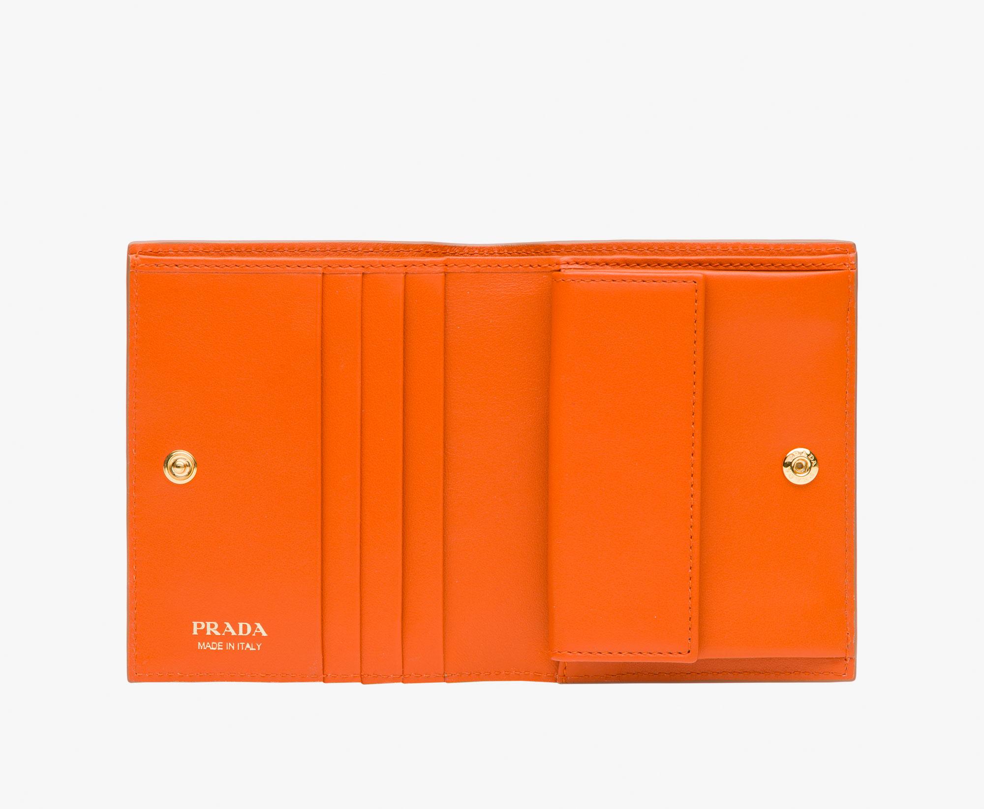 5c9dbd1435c036 Small Leather Wallet Prada CARAMEL/PAPAYA ...
