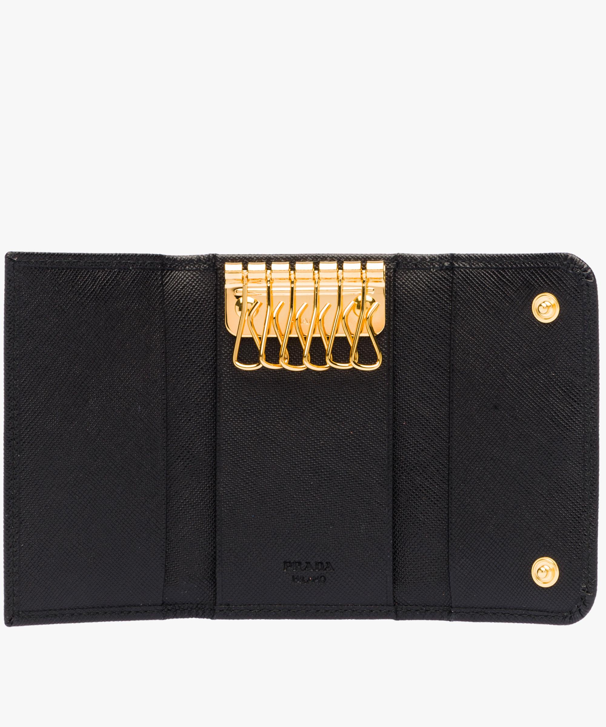 1f8e8a56208e69 Leather Keyholder Prada BLACK ...