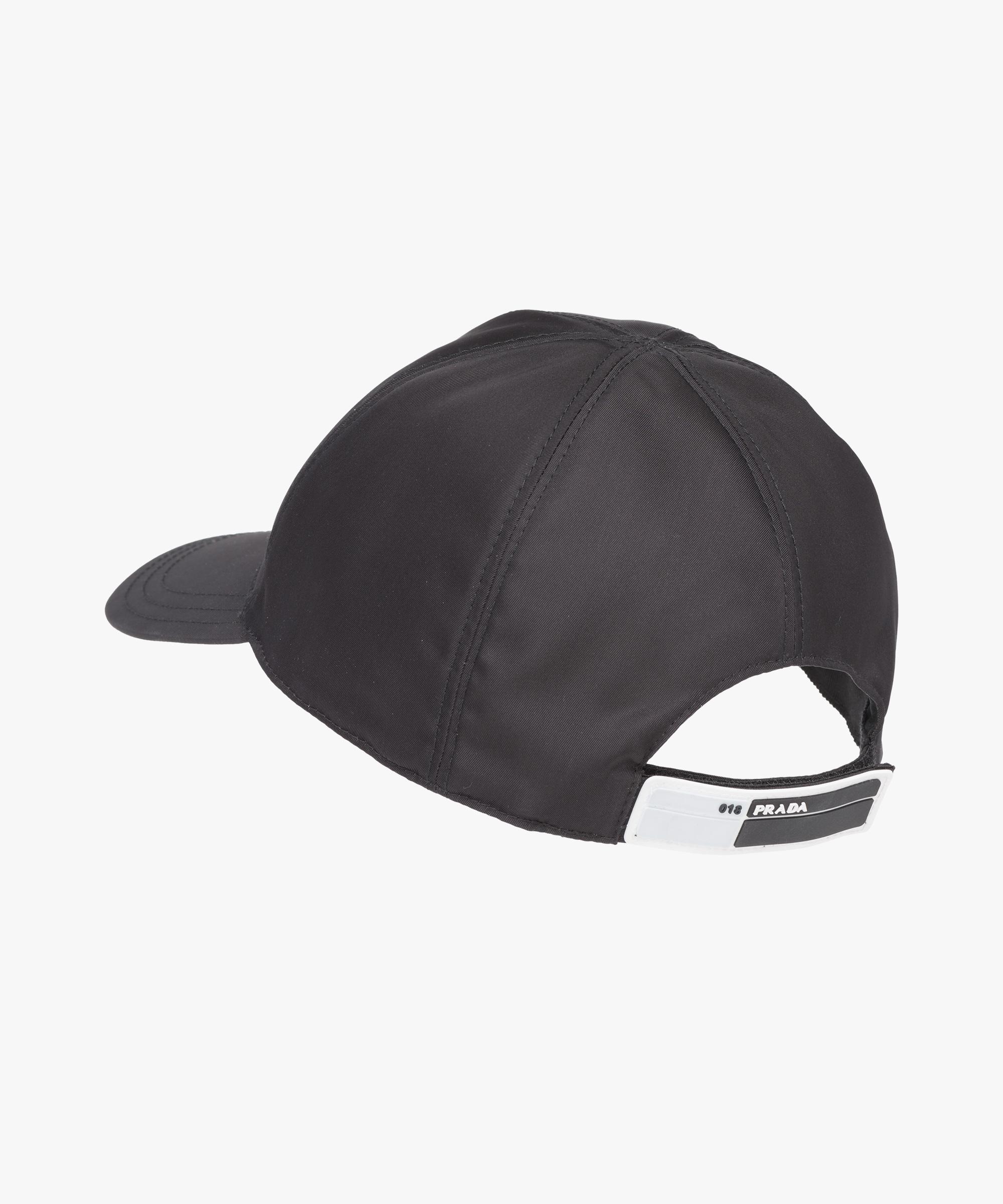 ... Nylon baseball cap Prada BLACK ... 0b194b96cf9