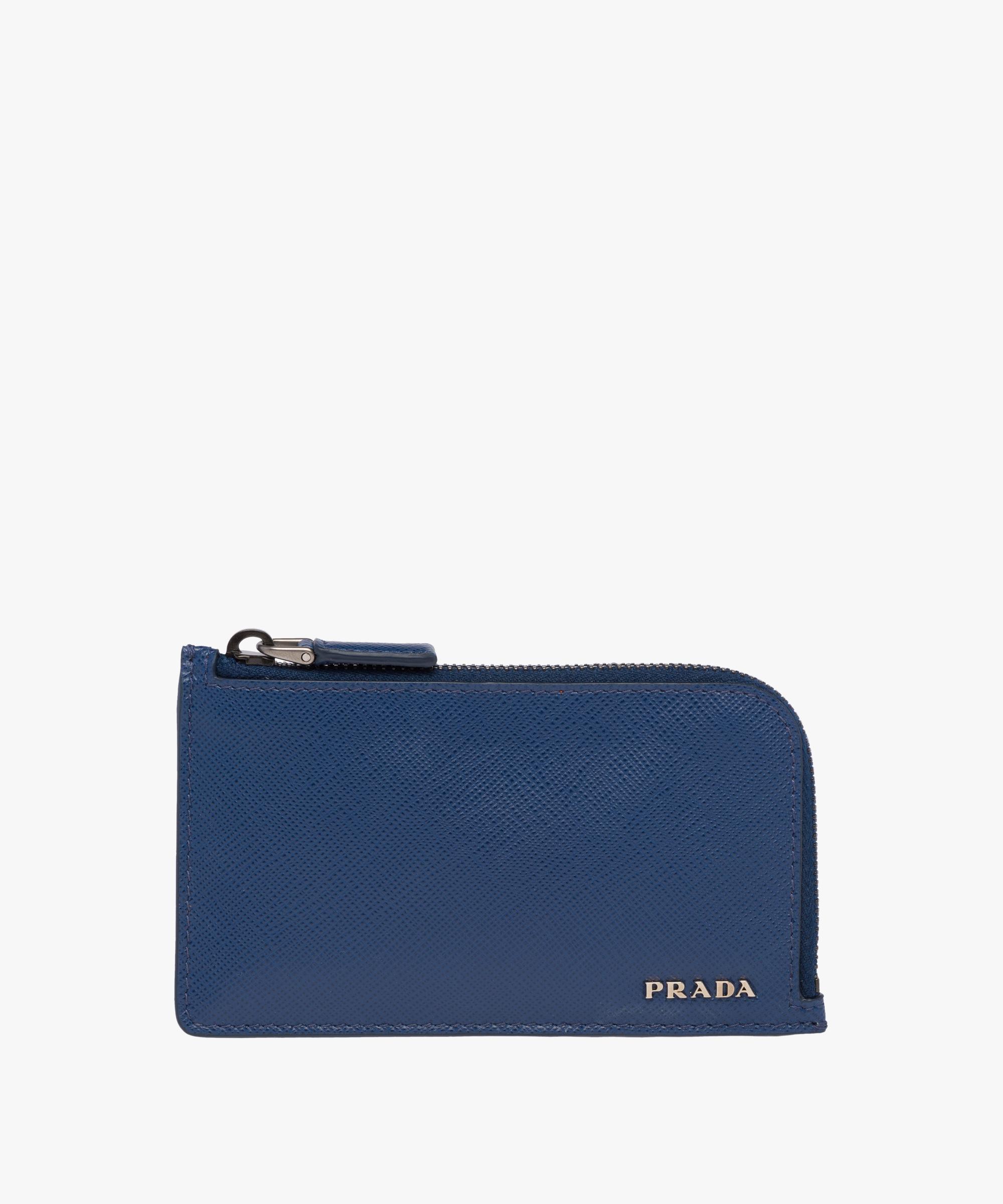 a5855e526c32 ... new arrivals saffiano leather card holder prada cornflower blue papaya  0429a 28917 ...
