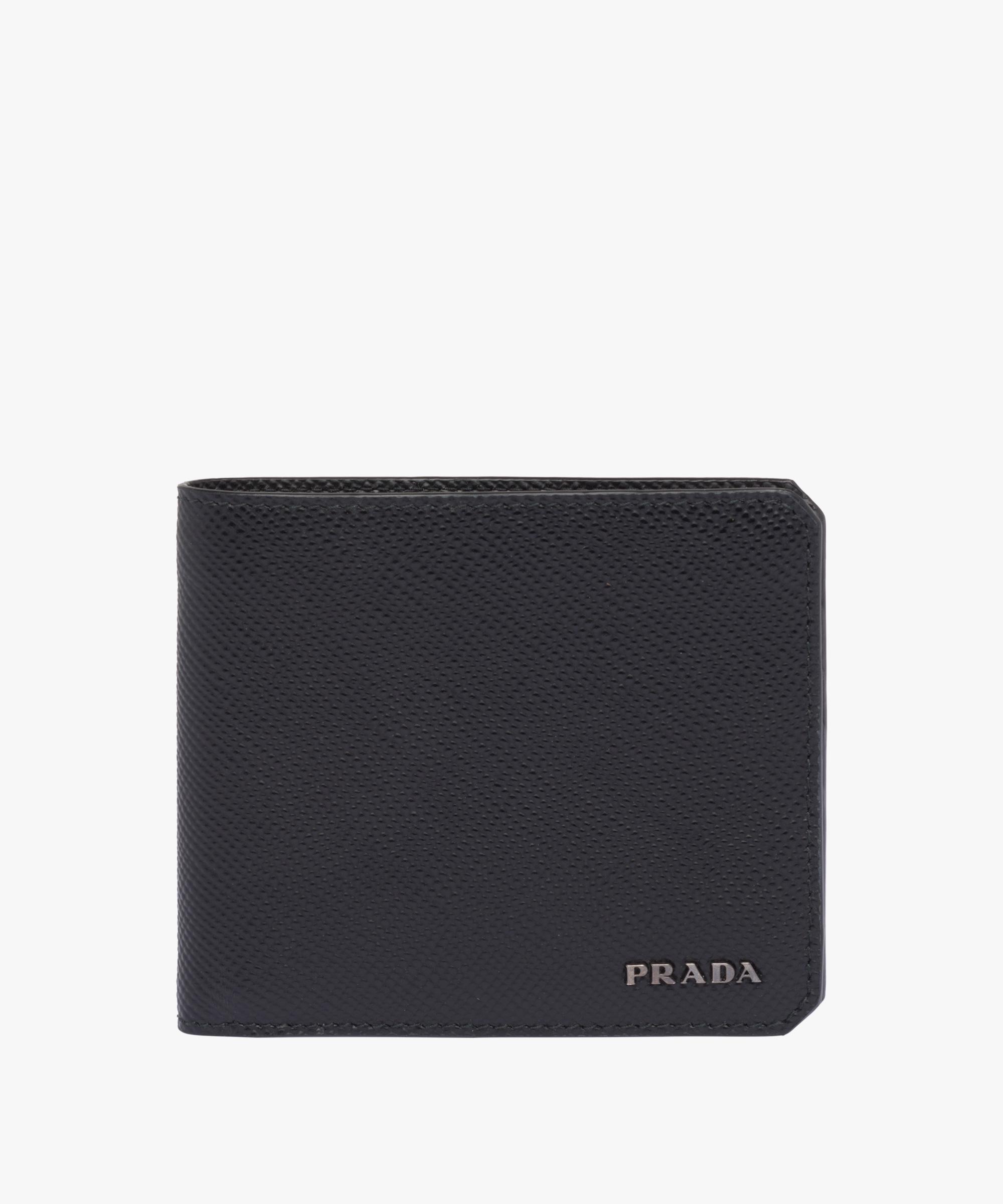28e1eb218fe75b ... netherlands saffiano cuir leather wallet prada black a0b59 7c567