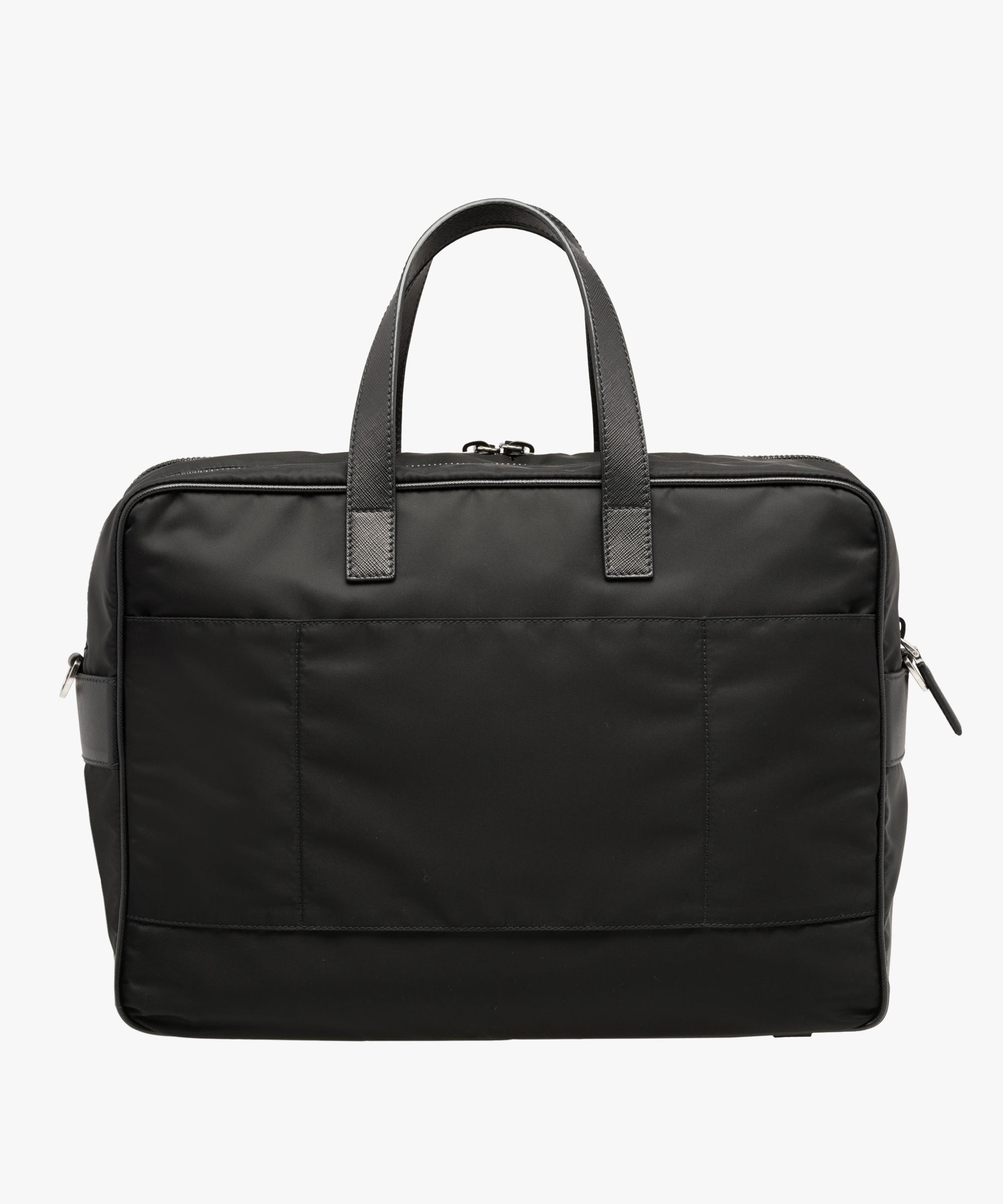 9c16de0e9e6f ... Nylon Laptop Bag Prada BLACK ...