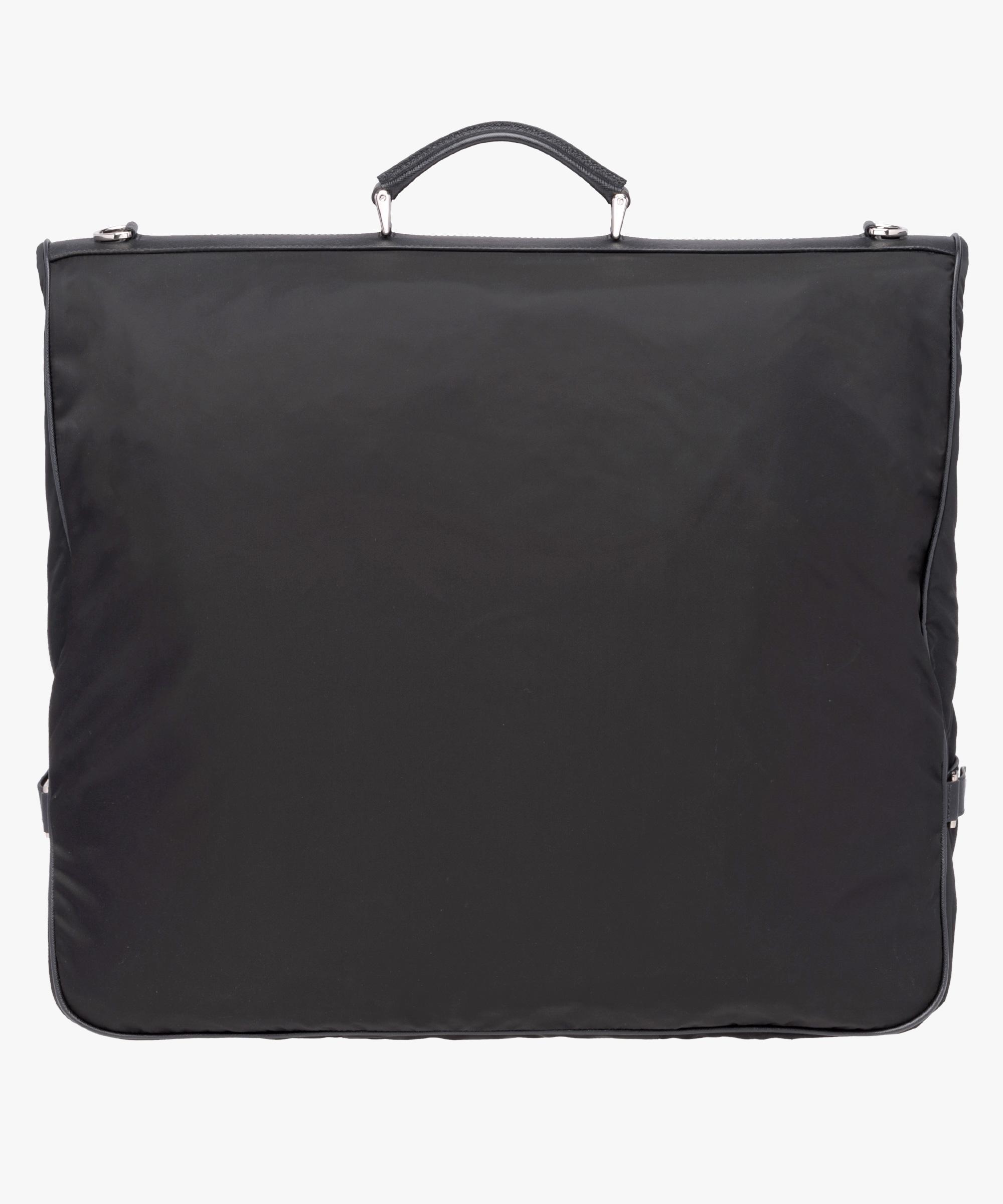 6c3e3f052004 ... Saffiano leather and nylon garment bag Prada BLACK ...