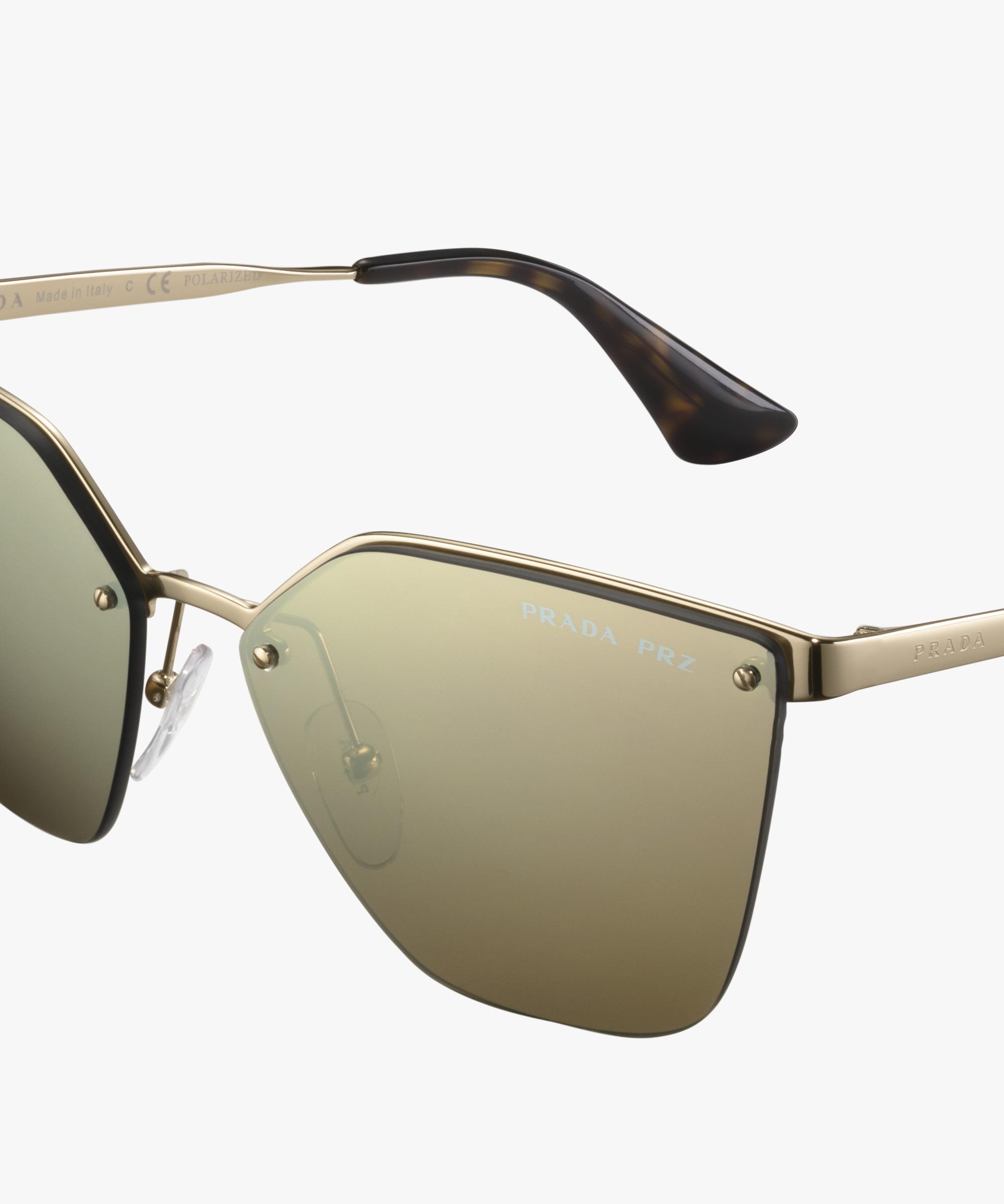 901a6fa3ed Prada Cinéma Eyewear Prada POLARIZED MIRRORED BROWN LENSES ...