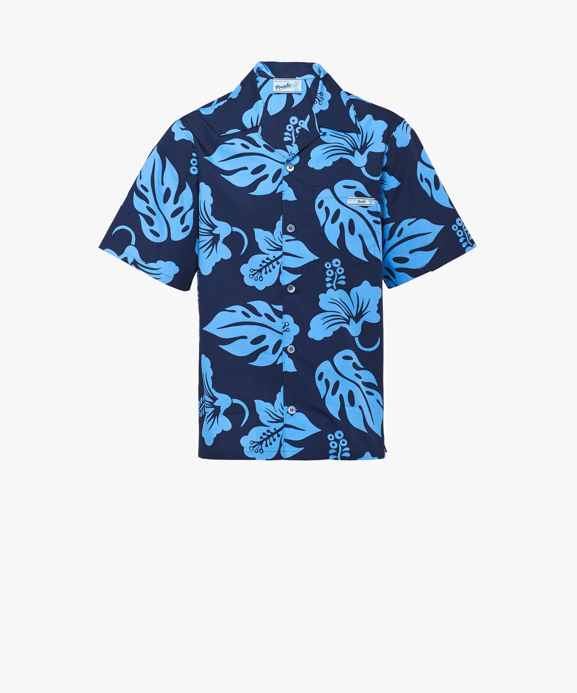 8103796be ... Shirt with hibiscus print Prada CELESTE ...