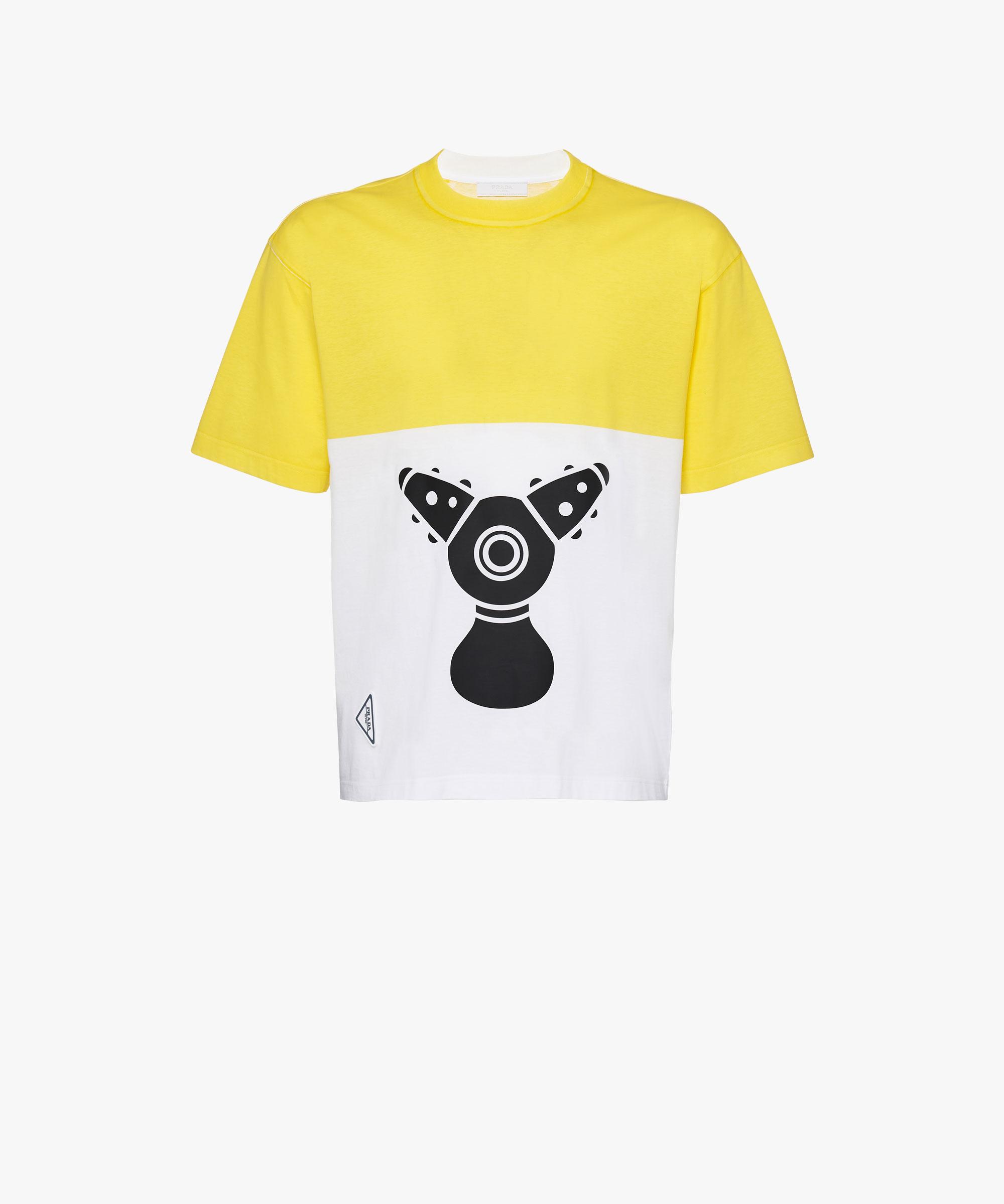 a7601cb02 ... Pradamalia cotton T-shirt Prada LIME GREEN ...