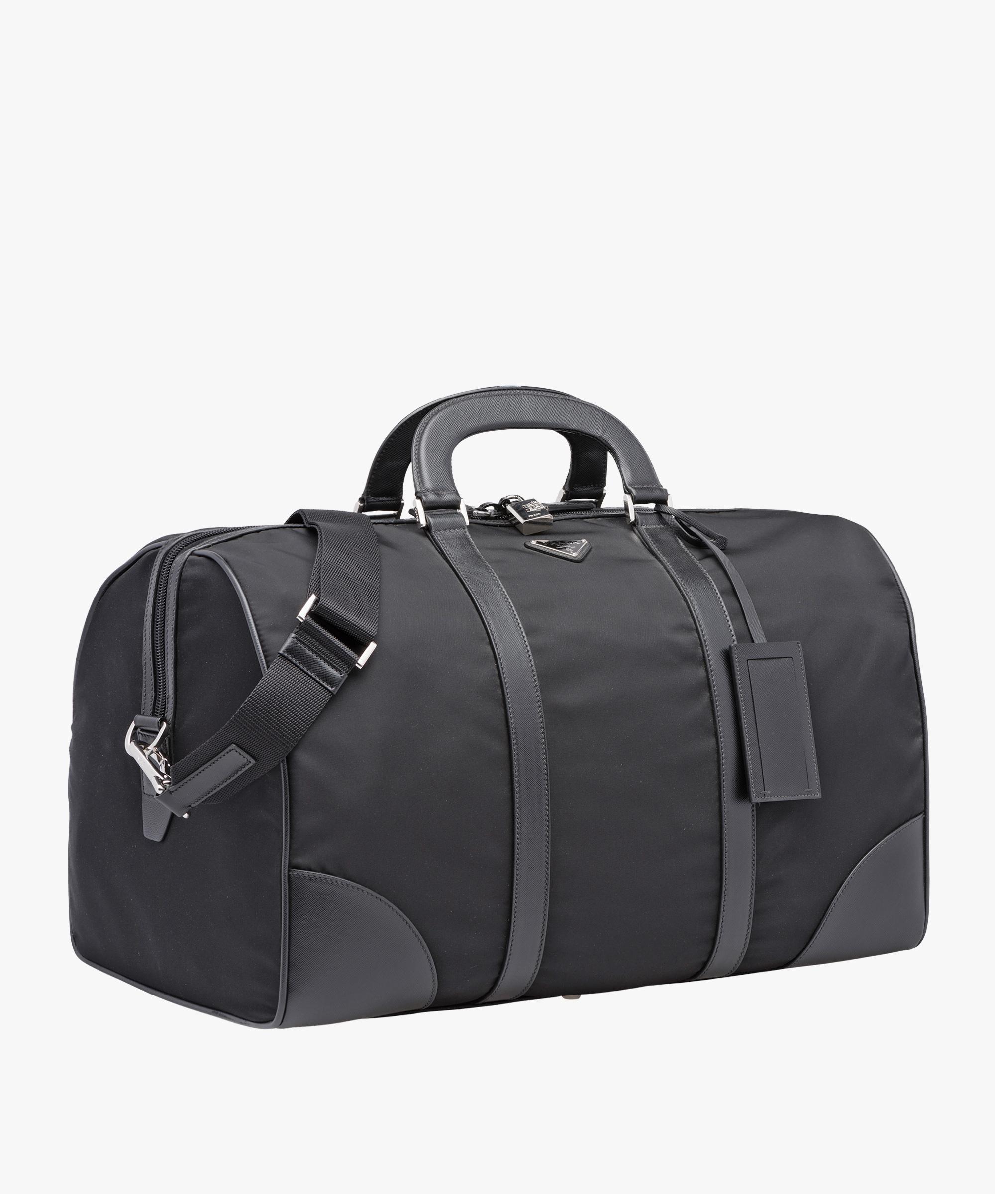 ae760b68c6c6ab ... Duffle Bag Prada BLACK ...